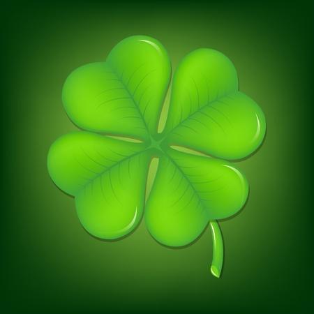 Green Clover With Gradient Mesh, Vector Illustration Stock Vector - 17779073