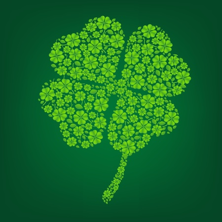 Green Clover With Gradient Mesh, Vector Illustration Stock Vector - 17779075