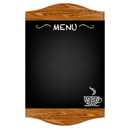 chain food: Restaurant Menu Board With Gradient Mesh, Isolated On Red Background, Vector Illustration Illustration