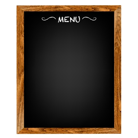 panel: Restaurant Menu Board With Gradient Mesh, Isolated On Red Background, Vector Illustration Illustration