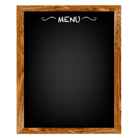 pannello legno: Ristorante scheda del menu con Gradient Mesh, isolato su sfondo rosso, illustrazione vettoriale