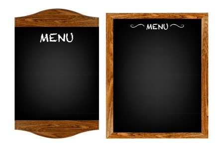 chain food: 2 Restaurant Menu Boards With Gradient Mesh, Isolated On White Background, Vector Illustration