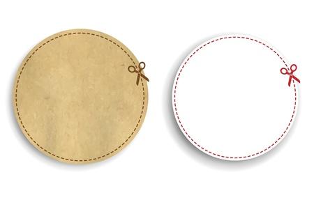 price cut: Buoni Set con gradiente maglie, isolato su sfondo bianco, illustrazione vettoriale