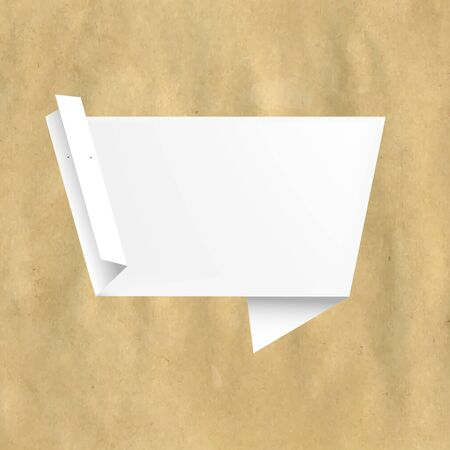 Retro Paper With White Origami With Gradient Mesh, Vector Illustration Vector