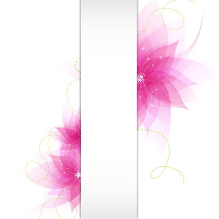 Banner With Abstract Flowers With Gradient Mesh, Vector Illustration Vector