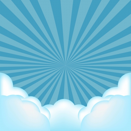 Burst Background With Clouds With Gradient Mesh, Vector Illustration Vector