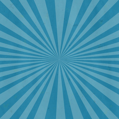 Blue Retro Burst Background, Vector Illustration