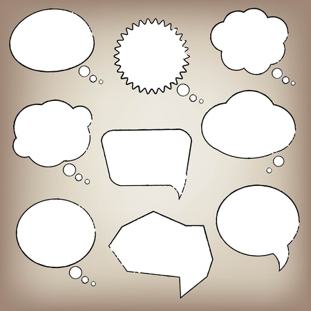 Abstract Speech Bubble With Gradient Mesh, Vector Illustration Vector