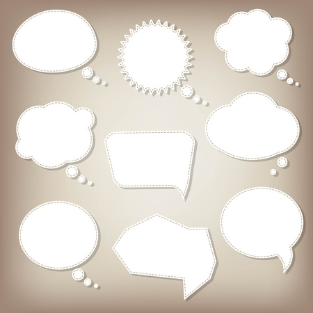 Abstract Speech Bubbles With Gradient Mesh, Vector Illustration Vectores