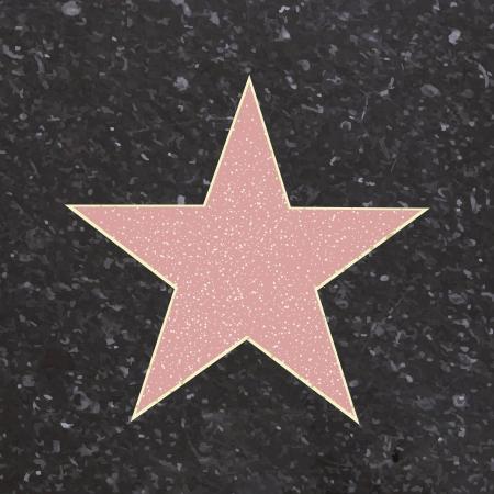 caminar: Camino a la Fama Tipo Star, ilustraci�n vectorial de