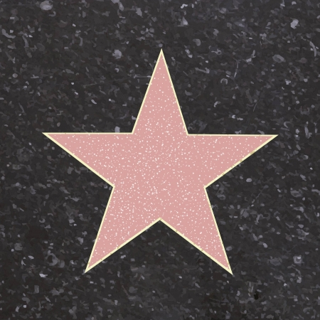 terrazzo: Walk Of Fame Type Star, Vector Illustration  Illustration