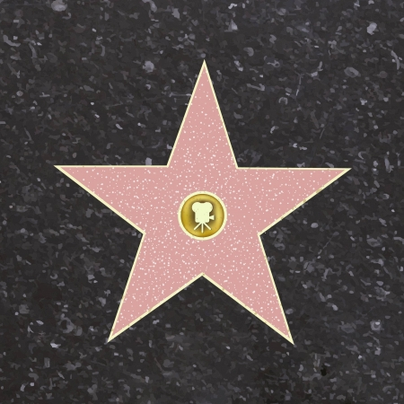 Walk Of Fame Star, Vector Illustration  Vectores