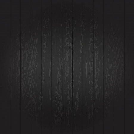 dark wood: Black Wooden Background, Vector Illustration Illustration