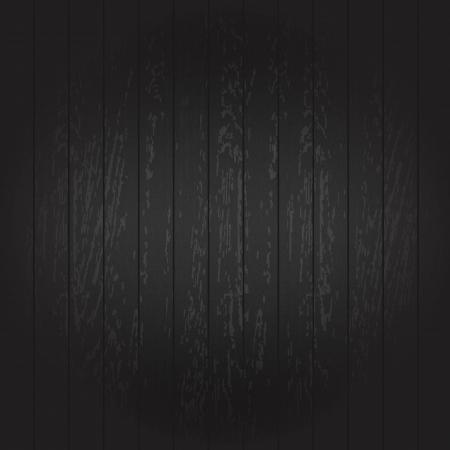planche de bois: Fond noir en bois, Vector Illustration