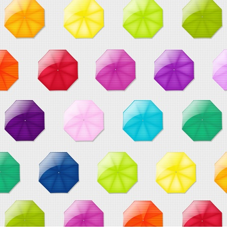 yellow umbrella: Background With Color Umbrellas With Gradient Mesh, Vector Illustration