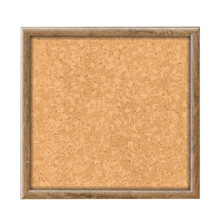 memorandum: Cork Board Wooden Texture, Vector Illustration  Illustration