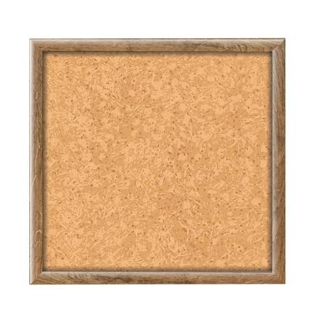 Cork Board Wooden Texture, Vector Illustration  Illustration