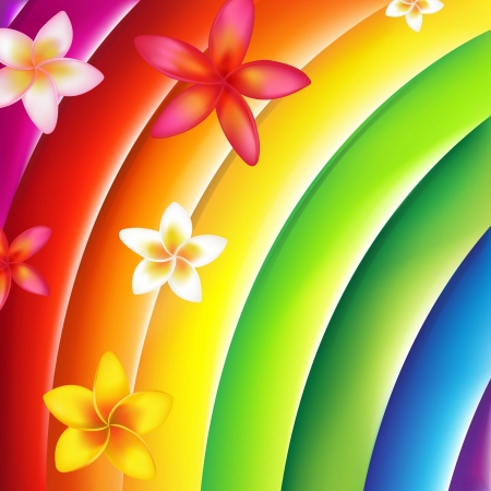 Fantastic Colorful Background With Flowers With Gradient Mesh, Vector Illustration Vector