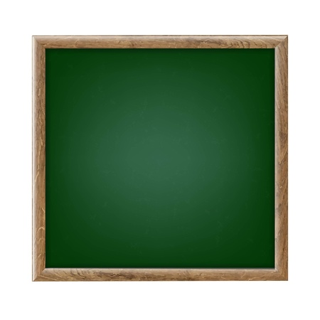 chipboard: Green Chalk Board With Gradient Mesh, Vector Illustration