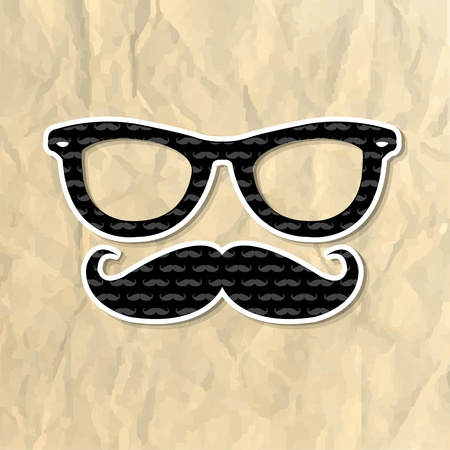 Hipster Symbol, Vector Illustration Vector