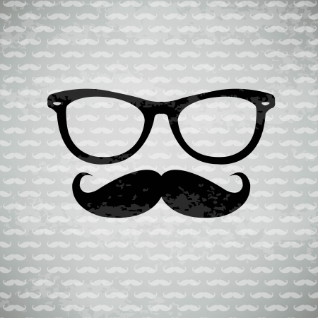 Hipster Logo With Gradient Mesh, Vector Illustration Vector