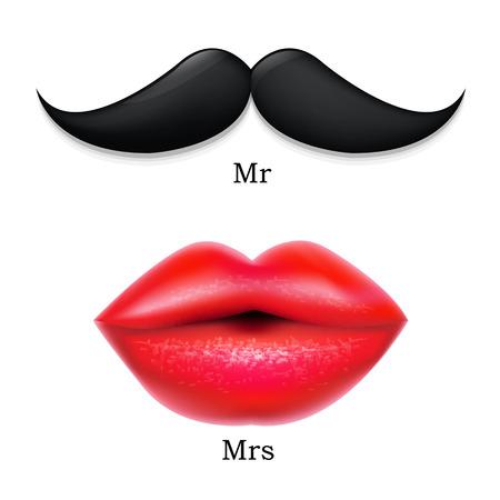 señora: Bigotes con los labios