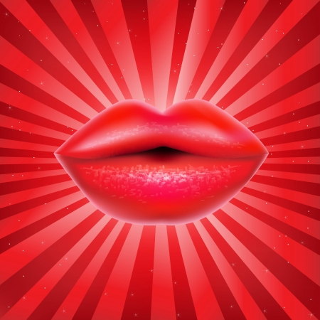 ms: Red Lips With Sunburst