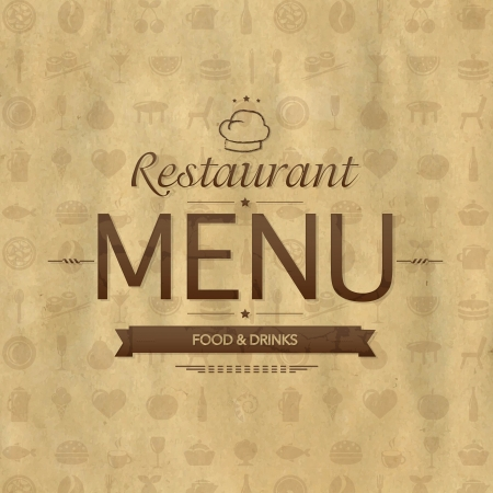 Vintage Restaurant Menu Design Stock Vector - 22368120