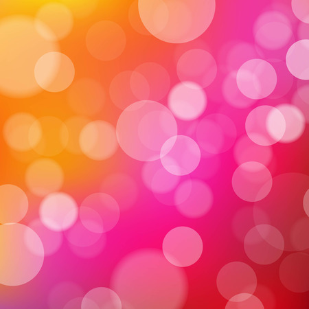 multitude: Fondo de luces de color naranja y rosa con el bokeh, con malla de degradado, ilustraci�n vectorial