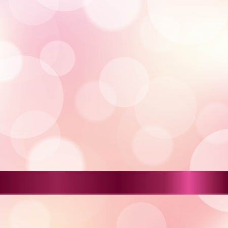 Pink Color Background With Ribbon, With Gradient Mesh, Vector Illustration