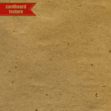 recycled paper: Cardboard Texture With Red Ribbon, Vector Illustration
