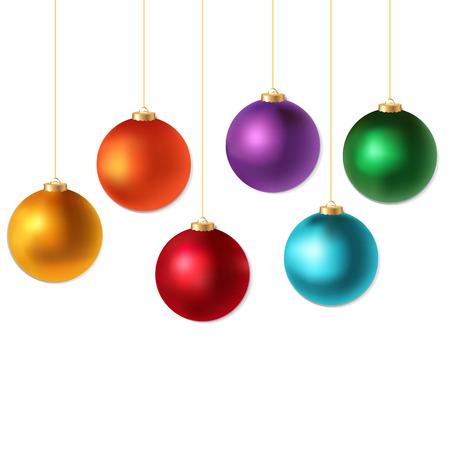 Color Christmas Balls Set, With Gradient Mesh, Vector Illustration  일러스트
