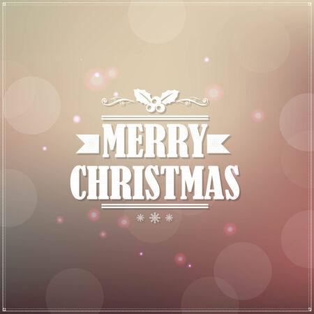 Retro Christmas Banner, With Gradient Mesh, Vector Illustration