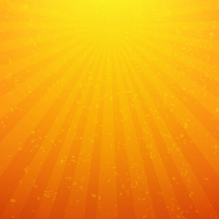 yellow background: Sunburst Background With Rays, With Gradient Mesh, Vector Illustration