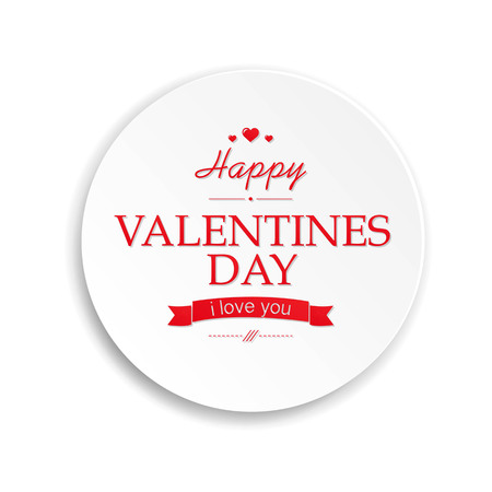 february 14th: Red Heart Valentines Day, With Gradient Mesh, Vector Illustration