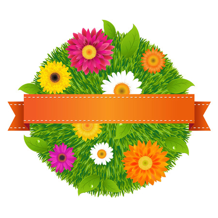 Ball With Flowers, With Gradient Mesh, Vector Illustration Vector