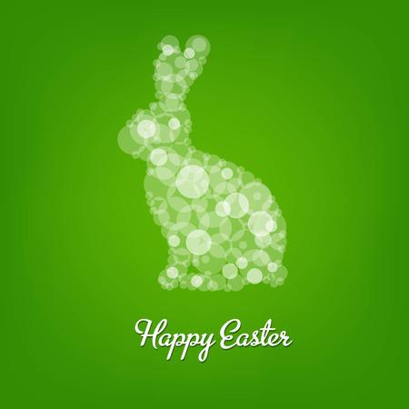 Easter Rabbit, With Gradient Mesh, Vector Illustration Vector