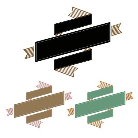 scroll banner: Vintage Ribbon Banner, Vector Illustration Illustration