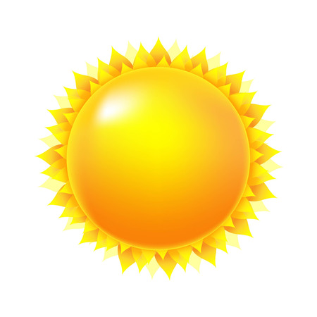 Bright Sun, With Gradient Mesh, Vector Illustration Vector