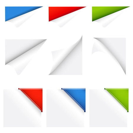 Color Collection Corners, With Gradient Mesh, Vector Illustration Vector