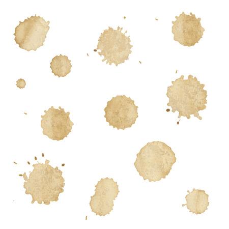 Set Of Spots From Coffee, Vector Illustration Illustration