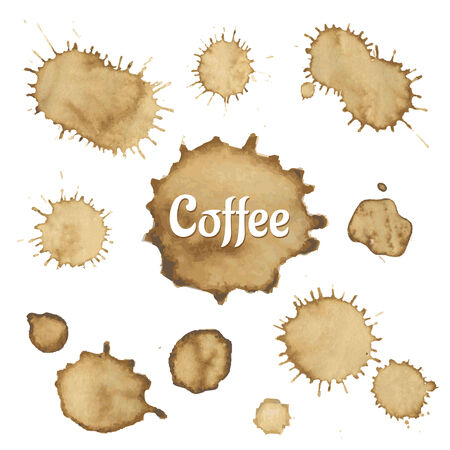 coffee stain: Coffee Stain Collection, Vector Illustration