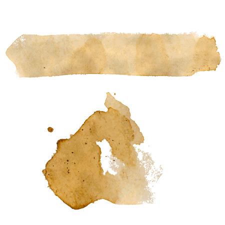 Coffee Stains Set, ilustración vectorial