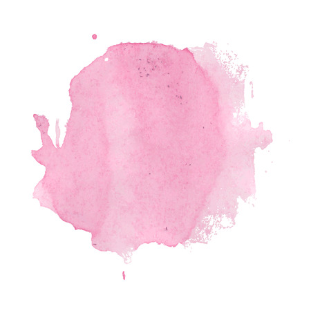 water stained: Pink Stain, Vector Illustration Illustration