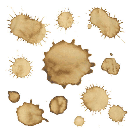 faience: Coffee Stain Collection, Vector Illustration