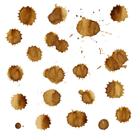 coffee stain: Coffee Stain Set Illustration