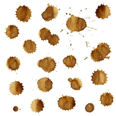 faience: Coffee Stain Set Illustration
