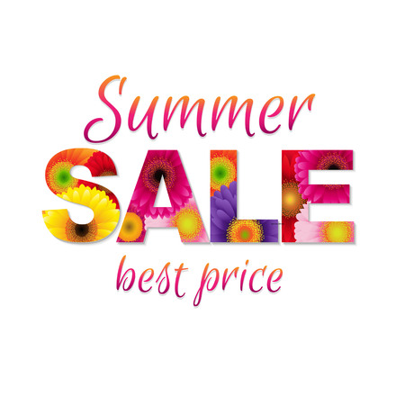 Colorful Summer Sale Poster Illustration Vector