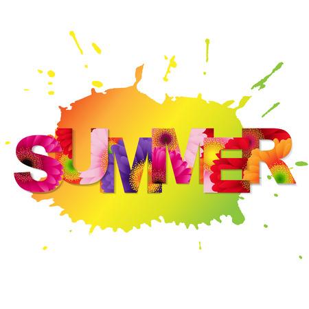 sales promotion: Colorful Summer Poster Illustration Illustration