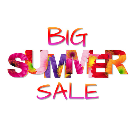 big daisy: Colorful big Summer sale Poster Illustration